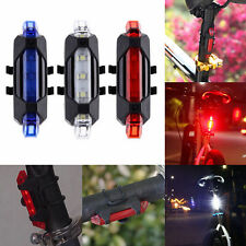 5 LED USB Rechargeable Bicycle Cycling Tail Rear Safety Warning Light Lamp Hot