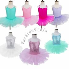 US Girl Tutu Ballet Leotard Dance Dress Ballerina Kid Dancewear Unitards Costume