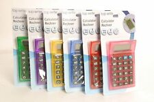 8 DIGIT PLASTIC HAND HELD POCKET DESK CALCULATOR OFFICE SCHOOL STATIONARY 11 CM