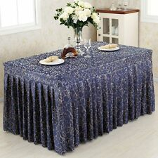 Tina 4'ft. Fitted Polyester Table Skirt Tablecloth Wedding Banquet Event Pleated