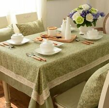 Trendy Rectangular Cotton Canvas Tablecloth Linen Dinning Table Cloth Cover