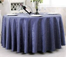 """Tina 60""""-120''Round Polyester Tablecloth Wedding Event Party Banquet Table Cover"""
