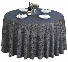 """Tina 60""""-120'' Round Polyester Floral Banquet Tablecloth Table Cover Wedding"""