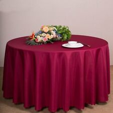 "Tina 60''-120""Round Polyester Tablecloth Table Cover Linen Wedding Banquet Party"