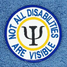 NOT ALL DISABILITIES ARE VISIBLE SERVICE DOG PATCH 3IN Danny & LuAnns Embroidery