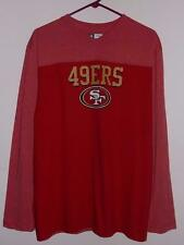 San Francisco 49ers long sleeve t shirt $48 NFL premium scarlet NWT