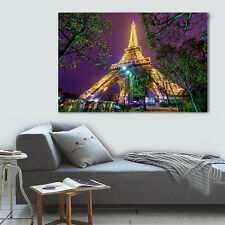 "HUGE MODERN ABSTRACT WALL DECOR ART OIL PAINTING ON CANVAS""no frame""Eiffel Tower"