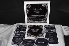 Personalised Wedding Day/Evening Invitations Invites RSVP *FREE GIFT* WP2