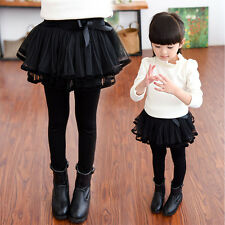 Baby Girl Leggings Divided Skirt And Veil Dress Pants Polyester-cotton In Spring