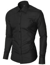 MODERNO Mens slim fit long sleeve dress shirt (MOD1426LS)