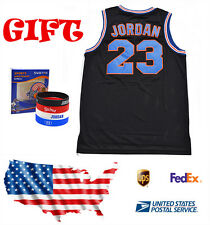 Space Jam Tune Squad Basketball Jersey Michael Jordan MJ 23 Black  S-XXL