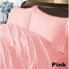 Extremely Soft Bedding Item 1000TC Egyptian-Cotton All UK Size Pink Striped