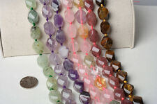 Wholesale Natural 15x20mm Twist Jewelry Making Loose Gemstone Beads Strand 16""