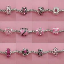 ~ Brighter Pink Style Charms ~ 99p Each ~ Buy 4 Get 1 Free ~ Organza Gift Bag ~