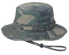 BOONIE HAT BUCKET HAT TWILL PREWASH CAMOUFLAGE WITH SIDE SNAPS