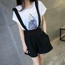 Womens Korean Slim fit Overalls Jumpsuit Strappy Shorts Skirt  Dress Pants