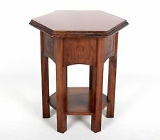 Antique Vintage Plant Stand Wine Table Side Table Hexagonal