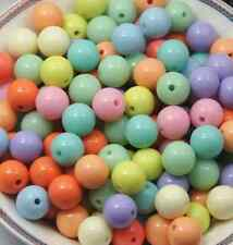 wholesale 500/1000pcs Candy color beads round bead acrylic beads scattered beads