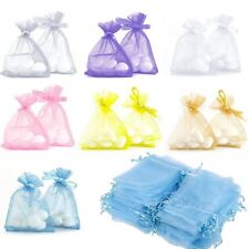 25pcs Wedding Party Favour Decor XMAS Organza Gift Candy Bag Jewellery Pouches