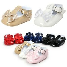 Infant Toddler Baby Girl Lovely Bow Knot Crib Shoes Sneaker Newborn to 18 Months