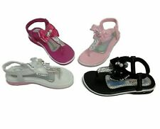 New Cute Black White Baby Infant Toddler Bow Sandals Shoes Sz 4 5 6 7 8 9