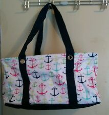 Used Thirty-One Medium Utility Tote First Mate Anchor Retired print and tote