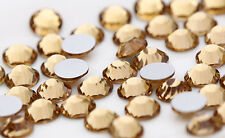 1440 Yellow 1.4mm - 7.4mm Crystal Glass14 facets Round Rhinestone Flatback