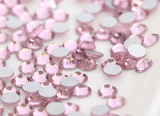 Crystal Glass1440 Pink 1.4mm - 7.4mm 14 facets Round Rhinestone Flatback