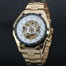 New Skeleton Automatic Mechanical Watch Golden Skeleton Watch Vintage Style