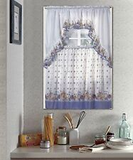 NEW Kitchen Window Curtain Pots & Fruit Complete Tier and Swag Set