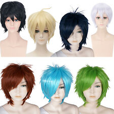 30cm Layered Cosplay Wig Unisex Hair  Halloween Costume Party Fancy dress Lot