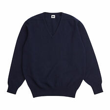 Community Clothing Women's Navy Wool V-Neck Jumper