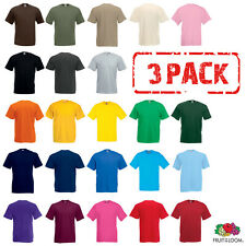 3 Pack Fruit of the Loom T-SHIRT TEE COTTON PLAIN TSHIRTS MEN SIZE S-5XL COLOURS