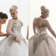 New Arrival Plus Size Wedding Dress Lace Bridal Gown Custom 4++16-18-20-22-24-26