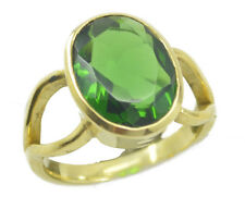 Emerald CZ Gold Plated Ring well-formed Green handcrafted AU K,M,O,Q