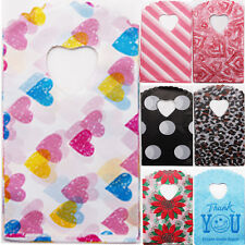 50pcs 20X25cm Love Plastic BagsJewelry Pouches Gift Bag Greeting Cards DIY