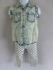 REDUCED LIMITED TIME! Baby Girls Minoti Denim Skirt & Legging Set  6-12mth