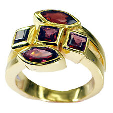 Garnet Copper Ring L-1in well-formed Red supplies AU K,M,O,Q