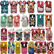 New 3D Cute Cartoon Soft Silicone Phone Back Case Cover Skin Shell For LG Phones