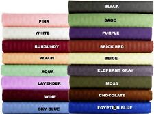 1000TC EGYPTIAN COTTON 1 PC BED SKIRT/VALANCE STRIPE ALL COLOR AU SINGLE SIZE