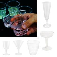 6 x Disposable Wine Glasses Champagne Clear Plastic Cup Wine Beer Tasting Party
