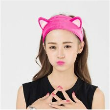 Tool Hair Head Band Wash Shower Cap Cute Cat Ears Headband Hair Accessories