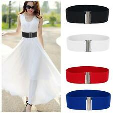 Fashion Stretch Buckle Silver Elastic Wide Belts Corset Waistband