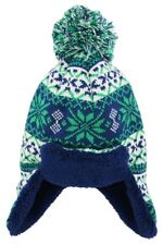 iXtreme Toddler Boys Sherpa Lined Winter Trapper Ear Flap Hat size 2-4T