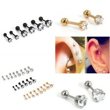 2pc Stainless Steel Barbell Ear Cartilage Tragus Helix Stud Bar Earring Piercing