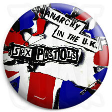 Sex Pistols - Anarchy in The UK - 25mm Punk Button Badge, Fridge Magnet Option