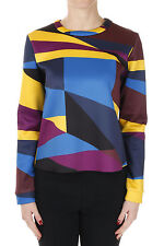 SPORTMAX CODE New Woman Multicolor Round neck Long sleeve top NWT