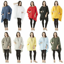 New Womens Quirky Batwing Linen Baggy Italian Top Plus Size 12 14 16 24