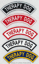 1 THERAPY DOG ROCKER PATCH service RR Danny & LuAnns Embroidery