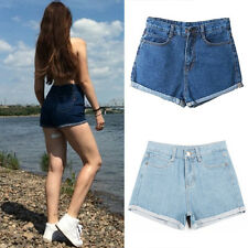 Women Girl Hot Fashion Shorts High Waist Denim Jeans Short Pants Causal Summer